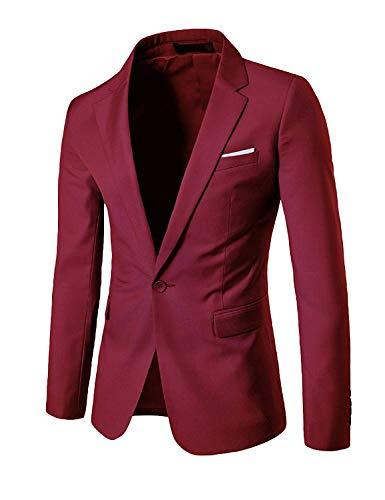 Risvolto Casual Giacca Libero Abiti 4xl Color Per Maniche Tempo Da Fit Business Taglie Uomo Blazer Elegante Size Giacche Il Winered Lunghe Comode A Slim qC4CE6xwA