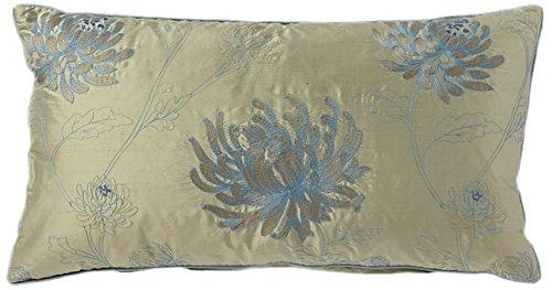 Price comparison product image Corona Decor Fine Embroidered Floral Design Silk Accent Pillow
