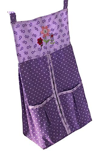 Baby Girl Purple Owl Diaper Stacker