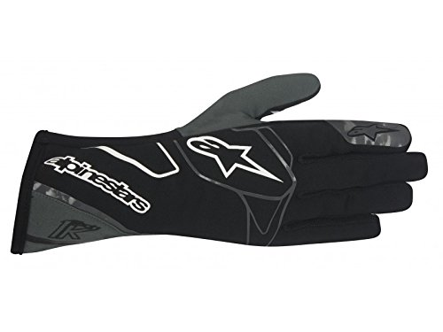 Alpinestars 3551717-140-L Tech 1-K Gloves, Black/Anthracite/White, Size L