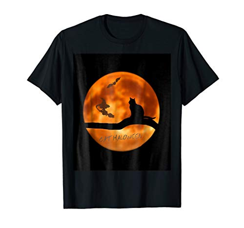 Cathaloween costum cat haloween t-shirt tshirt for men -
