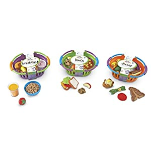 Learning Resources New Sprouts Bundle of Breakfast, Lunch and Dinner, 3 Sets, Easter Basket Stuffer, Easter Toys, Ages 2…