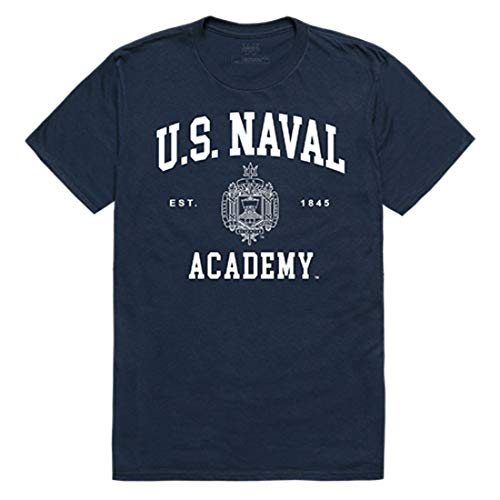 United States Naval Academy Midshipmen NCAA Seal Tee T-Shirt Navy Large