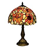 TS Tiffany Table Lamp With Flower , 110-120V