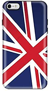 Stylizedd Apple iPhone 6Plus Premium Dual Layer Tough Case Cover Gloss Finish - Flag of UK
