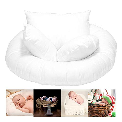 (Posing Pillows for Newborn Baby Photography | 4 Piece Prop Set for Girl and Boy - Premium Basket Filler)