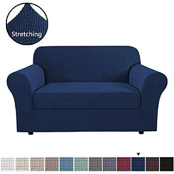 Amazon.com: H.VERSAILTEX High Stretch Jacquard 2 Pieces Sofa ...