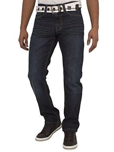7e7d544b2a Nuovo Uomo Enzo steinwaesche Dritto Regular Fit Classico Semplice Pantaloni  Jeans con Cintura Gratuita Blu Dunkel