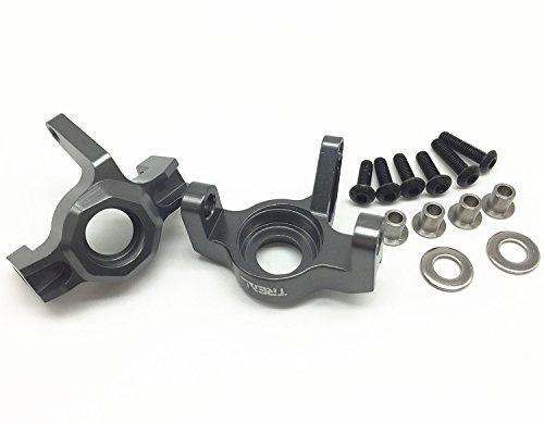 - Treal Alloy Steering Front Knuckle for 1/10 Axial Wraith RC Crawler Car - Gray