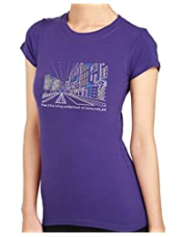 SAVANNAH Charming Waterfront Rhinestone/stud Womens T-Shirts