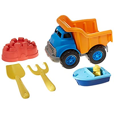 Green Toys Dump Truck with Sport Boat & Sand Toys: Toys & Games