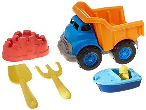 Green Toys Dump Truck with Sport Boat & Sand Toys ()