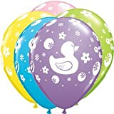RUBBER DUCK Ducky Pastel Colors (6) Latex Qualatex Balloons Baby Shower Party