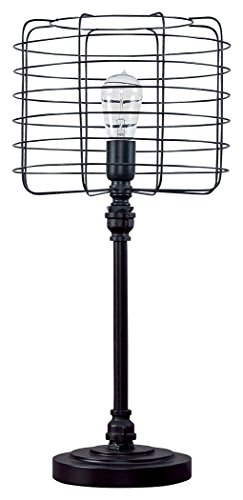 Ashley Furniture Signature Design -  Javan Table Lamp - Industrial Style - Antique - Urban Lamp Chic Black