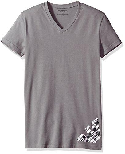 - Emporio Armani Men's Silver Touch Eagle V-Neck T-Shirt, Iron, Small