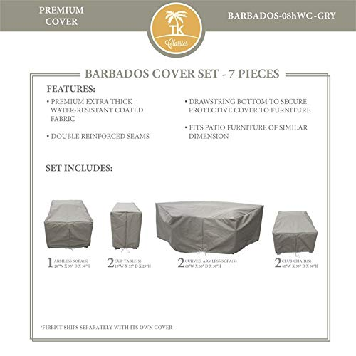 TK Classics BARBADOS-08h Protective Cover Set in Gray