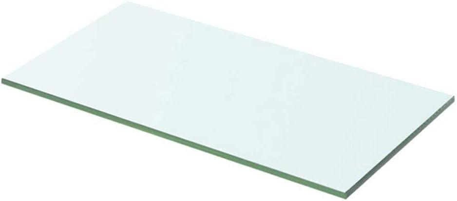 30x12cm Supporto da Parete Ripiano Singolo in Vetro Mensola in Vetro Temperato Trasparente Ripiano Lastra Scaffale da Bagno