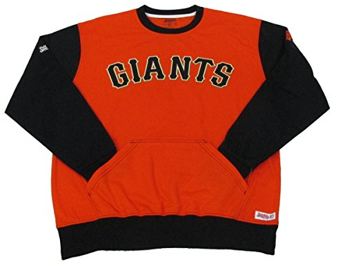 MLB San Francisco Giants Diamond Fleece Crew Sweatshirt, Orange, X-Large