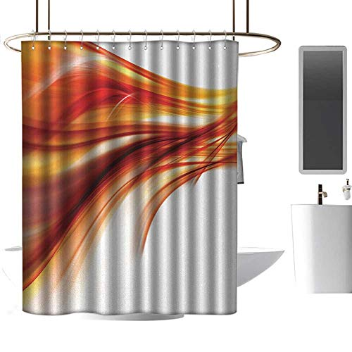 (Funny Shower Curtain Abstract Modern Contemporary Abstract Smooth Lines Blurred Smock Art Flowing Rays Print Western Shower Curtains W108 x L72)