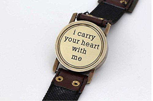 Romantic Christmas Presents Boyfriend/ Wrist Watch Sundial Cuff with Quote