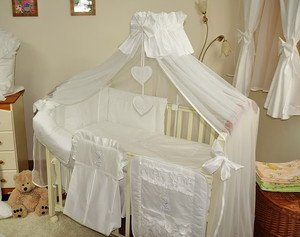 Luxury 8 Pcs Baby Bedding Set /Bumper/ Canopy/Holder For Cot Bed 140 : cot canopy uk - memphite.com
