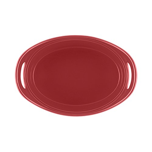 Rachael Ray 55051 Covered Casseroval Casserole, Stoneware, 4-1/4-Quart, Red