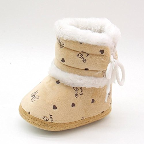 20798627047 Morrivoe Baby Girls Heart Print Soft Sole Warm Winter Snow Boots Toddler  Outdoor Anti-slip