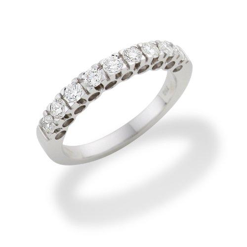 Miore MC226WO Memoire - Diamantring 18 Karat (750) Weißgold mit 9 Brillanten zus.0,50Ct - IGI Zertifikat Größe 54