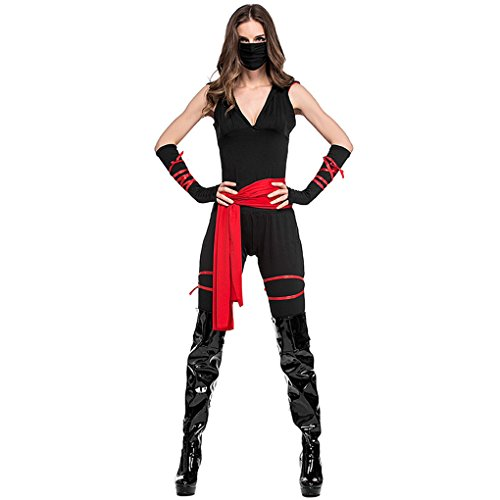 Horror Warrior Child Costumes (Halloween Costumes Adult Kids Masked Warrior Uniform Party Performance Cosplay Outfits Minzhi)