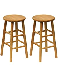 Winsome Wood Wood 24 Inch Counter Stools, Set Of 2, Natural Finish