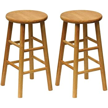 Amazon Com Winsome Wood Wood 24 Inch Counter Stools Set