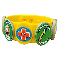 AllerMates New Multi Allergy Bracelet Kit for Children Including Epi Pen Charm