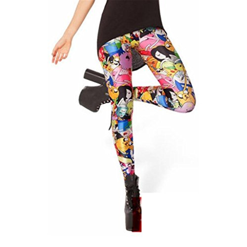 Cartoon Digital Printing Adventure Leggings