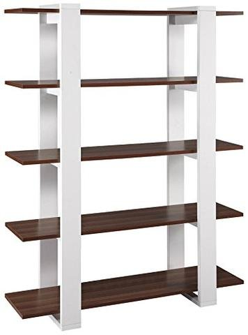 ioneyes Iohomes Marcel 5-Shelves Display Stand, White And - Kit Interlocking Display