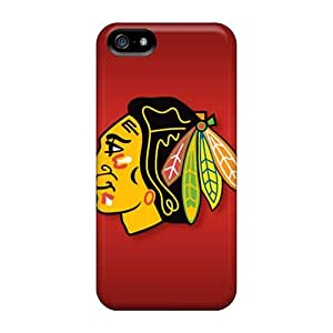 Anti-scratch And Shatterproof Chicago Blackhawks Phone Case For Iphone 5/5s/ High Quality Tpu Case