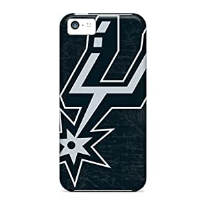 Iphone 5c Hard Back With Bumper Silicone Gel Tpu Case Cover San Antonio Spurs