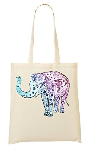 Tout Fourre Elephant Flower À Sac Provisions Pattern Sac CP xpvXRqBwp