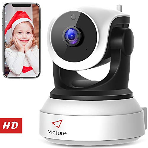 New Version Victure WiFi IP Camera 720P HD Wireless Indoor Home Security Surveillance Camera with Night Vision Motion Detection Playback 2-Way Audio Dome Home Monitor for Baby Elder Pet Pan/Tilt/Zoom -