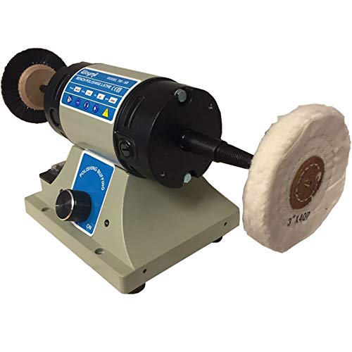 Jewelry Polishing Motot Compact Buffer Machine Lathe Benchtop Variable Speed by Waymil (Image #3)
