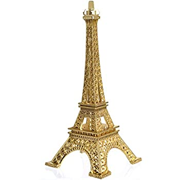Eiffel Tower Decor Joyfamily 7inch 18cm Metal Paris Eiffel Tower Statue Figurine Replica Drawing Room Table Decor Jewelry Stand Holder For Cake Topper
