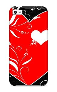 New Tpu Hard Case Premium Iphone 5c Skin Case Cover(cuore Artistic Love Abstract Artistic)