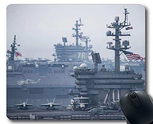 Yanteng Mouse Pads,Aircraft Carrier USS Carl Vinson USS Ronald Reagan Warship Gaming mousemats Multi YT56