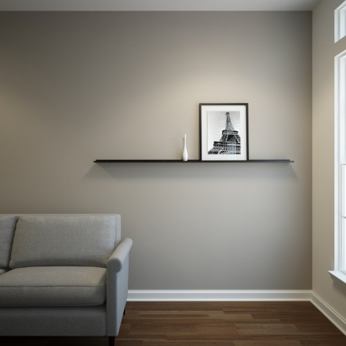 Floating Ledge Black Powder Coated Carbon Steel for Frames, Photos and Pictures, Extra Deep 3.5 6 Ft Long by 3.5 In Wide
