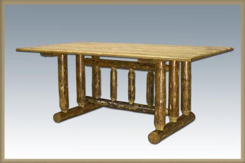 Montana Woodworks MWGCDT Glacier Country Collection Trestle Based Dining - Desks 30h