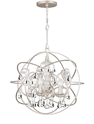 Crystorama 9026-OS-CL-MWP Solaris - Five Light Chandelier, Choose Finish: Olde Silver