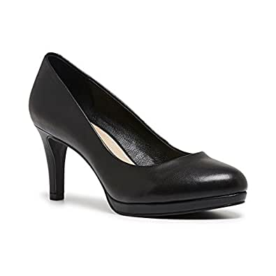 Hush Puppies Women's Praise Court Shoes Black 6 US