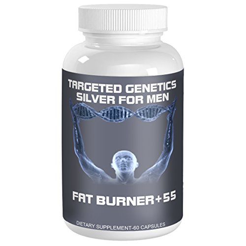 Targeted Genetics Thermogenic Fat Burner For Men over 55. The Only Weight Loss Pills Engineered To Attack Belly Fat in Men over 55. TG-1 Fat Cutter Weight Loss Pills SILVER are ONLY FOR MEN over 55