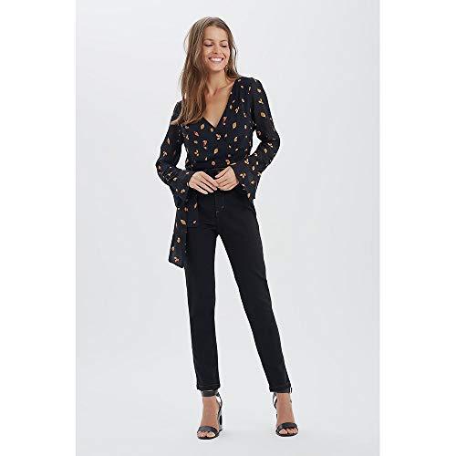 Calca Skinny Basica Jeans Black - 38