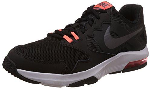 Nike Air Max Crusher 2, Zapatillas De Deporte Interior para Hombre Negro (Blck / Mtlc Drk Gry Hypr Orng Wh)