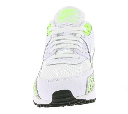 Nike Damer Wmns Air Max 90 Prem Sneakers, Sort Og Hvid (hvid / Hvid-spøgelse Grøn)